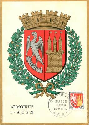 "/ CPSM FRANCE 47 ""Armoiries d'Agen"" / BLASON"