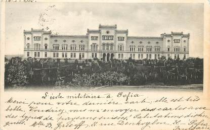 "CPA  BULGARIE / SOFIA ""L'Ecole militaire"""