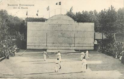 "/ CPA FRANCE 64 ""Biarritz Pittoresque, jeu de pelote"""