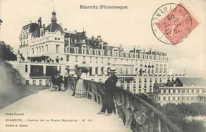 """/ CPA FRANCE 64 """"Biarritz Pittoresque, casino de la place Bellevue nr 39"""""""