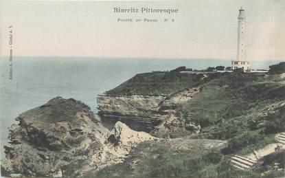 "/ CPA FRANCE 64 ""Biarritz Pittoresque, pointe de phare nr 2"""