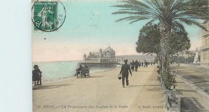 """/ CPA FRANCE 06 """"Nice, la promenade des Anglais et la jetée"""""""