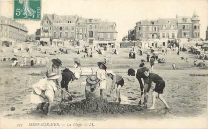 """/ CPA FRANCE 80 """"Mers sur Mer, la plage"""" / JEUX DE PLAGE"""