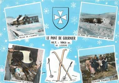 """/ CPSM FRANCE 48 """"Recoules Aubrac, hôtel du pony de Gournier"""""""