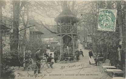 """/ CPA FRANCE 92 """"Robinson, intérieur de l'arbre des Roches"""""""