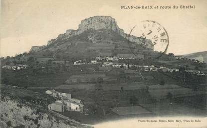 """/ CPA FRANCE 38 """"Plan de Baix et route de Chaffal"""""""