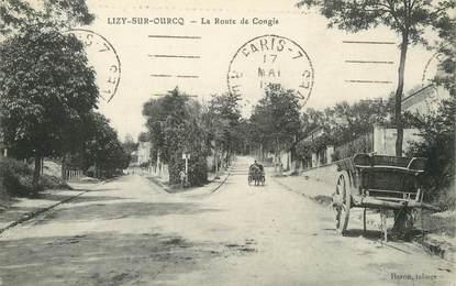 """/ CPA FRANCE 77 """"Lizy sur Ourcq, la route de Congis"""""""