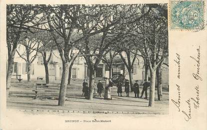 "/ CPA FRANCE 91 ""Brunoy, place Saint Médard """