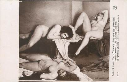 """/ CPA NU / SALON DE PARIS nr 6112 """"Emile Bernard, les femmes Damnées"""""""
