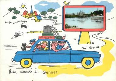 "/ CPSM FRANCE 49 ""Gennes"""