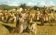 """Afrique CPSM CONGO BELGE """"Voyage du Roi au Congo, 1955, les guerriers Barundi"""" / PUB CHOCOLAT COTE D'OR"""
