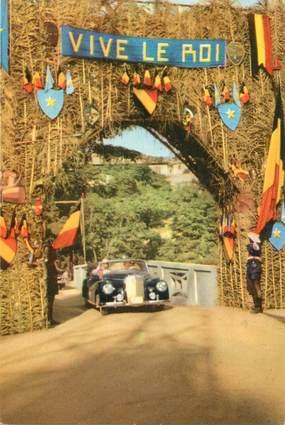 """CPSM CONGO BELGE """"Voyage du Roi au Congo, 1955, Matadi""""  / PUB CHOCOLAT COTE D'OR"""