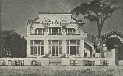 "CPA FRANCE 66 ""Canet Plage, restaurant Mar I Cel"""