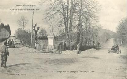 """CPA FRANCE 63 """"Virage de la vierge à Bourg Lastic"""" / CIRCUIT D'AUVERGNE / AUTOMOBILE"""