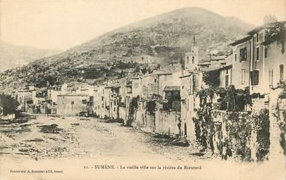 """CPA FRANCE 30 """"Sumène, la vieille ville sur la rivière du Rieutord"""""""