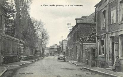 "CPA FRANCE 80 'Escarbotin, rue Clémenceau"""