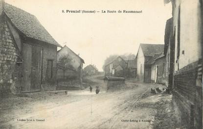 """CPA FRANCE 80 """"Prouzel, la route de Faumanant"""""""