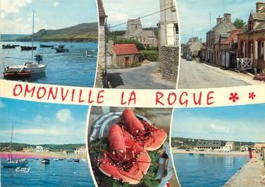 """/ CPSM FRANCE 50 """"La Hague, le port d'Omonville, la Rogue"""""""