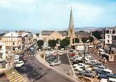 """50 Manche / CPSM FRANCE 50 """"Saint Pair sur Mer, place centrale"""""""