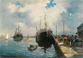 """50 Manche / CPSM FRANCE 50 """"Saint Vaast La Hougue, retour de pêche"""""""