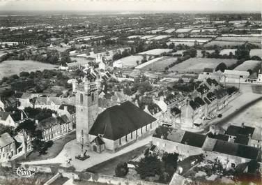 """/ CPSM FRANCE 50 """"Saint Pierre Eglise, l'église et le centre"""""""