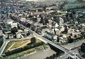 """50 Manche / CPSM FRANCE 50 """"Pontorson, le Couesnon et rue principale"""""""