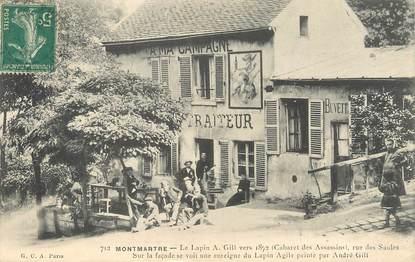 """/ CPA FRANCE 75018 """"Paris Montmartre, le Lapin A. Gill"""""""