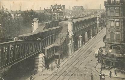 """CPA """"Paris, XVIII ème, Bld de la Chapelle"""" / METRO"""