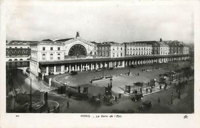 """CPA FRANCE 75009 """"Paris, la gare de l'Est"""""""