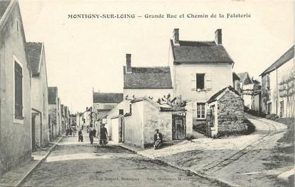 Cpa france 77 montigny sur loing grande rue et chemin de la foloterie 77 seine et marne - Garage montigny sur loing ...