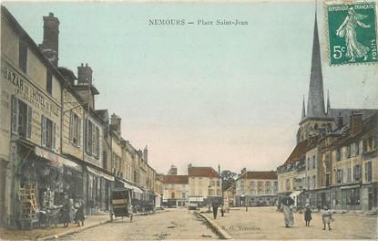 """/ CPA FRANCE 77 """"Nemours, place Saint Jean """""""