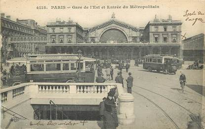 "CPA FRANCE 75009 ""Paris, Gare de l'Est"""