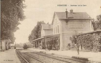 """/ CPA FRANCE 77 """"Nemours, intérieur de la gare"""""""