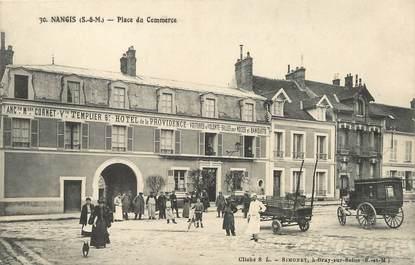 """/ CPA FRANCE 77 """"Nangis, place du commerce"""""""