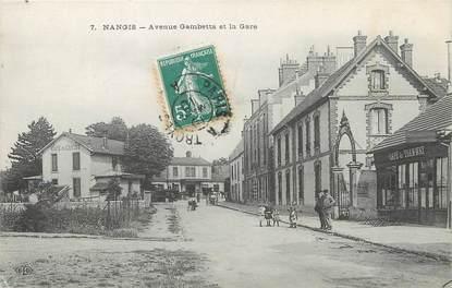 "/ CPA FRANCE 77 ""Nangis, av Gambetta et la gare"""