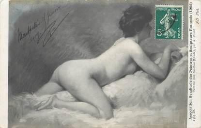 """/ CPA NU / ASSOCIATION SYNDICALE DES PEINTRES ET SCULPTEURS  FRANCAIS nr 2583 Dt, Femme nue couchée"""""""