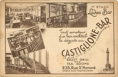 """CPA FRANCE 75008 """"Paris, Castiglione Bar, Rue Saint Honoré"""""""