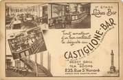 """75 Pari CPA FRANCE 75008 """"Paris, Castiglione Bar, Rue Saint Honoré"""""""