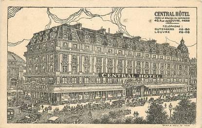 """CPA """"Paris, I er, Central Hotel"""""""