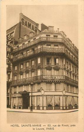 """CPA  """"Paris, I er, Hotel Sainte Marie, rue de Rivoli"""""""
