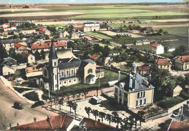 """/ CPSM FRANCE 51 """"Pontfaverger, l'église et la mairie"""""""