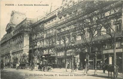 """CPA FRANCE 75002 """"Paris, Bld des Italiens, les grands boulevards"""""""