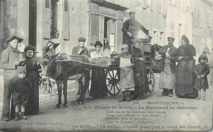 """CPA FRANCE 03 """"Montluçon, la marchande de marrons"""" / PETIT MÉTIER"""