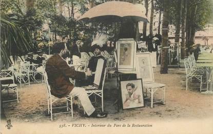 """CPA FRANCE 03 """"Vichy, Intérieur du Parc de la Restauration"""" / PEINTRE / PEINTURE"""