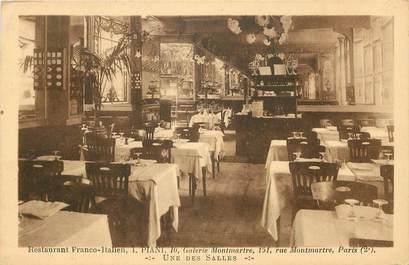 "CPA ""Paris, II ème, Restaurant Franco Italiens Piani, Galerie Montmartre"""