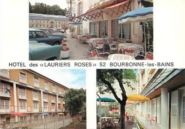 """/ CPSM FRANCE 52 """"Bourbonne Les Bains, hôtel des Lauriers Rose"""""""