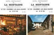 """52 Haute Marne / CPSM FRANCE 52 """"Colombey les Deux Eglises, hôtel restaurant de la Montagne"""""""