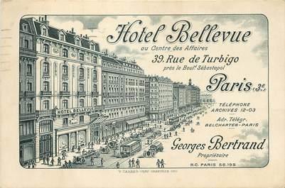 """CPA """"Paris, III ème, Hotel Bellevue, rue de Turbigo"""""""