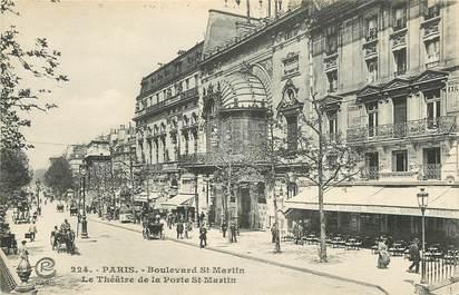 Cpa paris iii me bld saint martin le th tre de la porte saint martin 75 paris 3 eme - Theatre de la porte saint martin plan ...