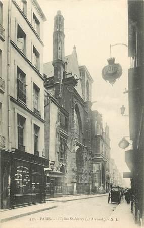 """CPA  """"Paris, IV ème, L'Eglise Saint Merry"""" / HOTEL"""
